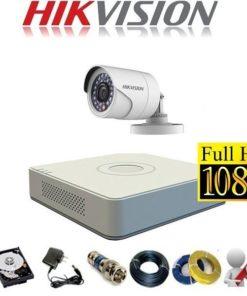 Trọn bộ 1 mắt camera Hikvision 2.0 Full HD