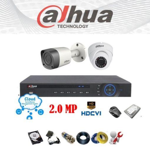 Trọn bộ 2 mắt camera giá rẻ chính hãng Dahua