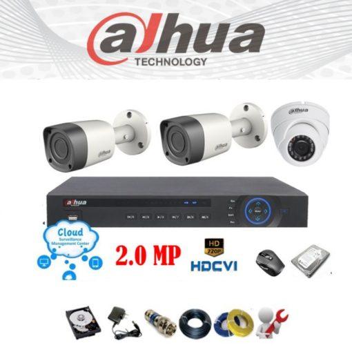 Trọn bộ 3 mắt camera giá rẻ chính hãng Dahua